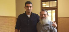 Shadi Abu Awwad and Rabbi Hanan Schlesinger
