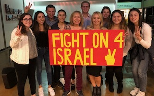 Penny S. Tee, Charlotte Korchak and USC Hillel students